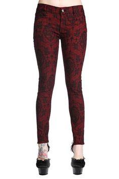 Burgundy Cross Cameo Ladies Skinny Fit Jeans