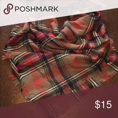 NWOT Blanket scarf Beautiful scarf. Soft. Great for your fall outfits! Accessories Scarves & Wraps