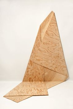 Harry Roseman; Folded Plywood 15, 2012.