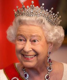 the Girls tiara, with diamond and ruby ear pendants and necklace