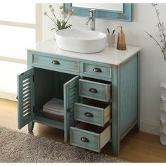 Diy Bathroom Vanity, Vessel Sink Bathroom, Bathroom Layout, Bathroom Styling, Bathroom Interior Design, Bathroom Furniture, Bathroom Storage, Bathroom Organization, Bathroom Cabinets