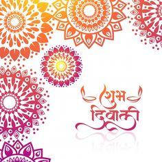 Elegant Colorful Greetings Card For Mandala Celebration Diwali Background Vector and PNG New Year Greeting Cards, New Year Greetings, Christmas Greeting Cards, Christmas Greetings, Diwali, Fancy Writing, Label Shapes, Confetti Background, Mandala