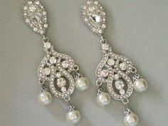 Swarovski Crystal Chandelier Earrings - Bridal Jewellery - Crystal ...