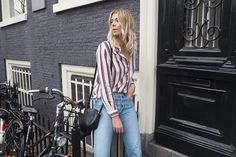 This striped shirt is the perfect partner for a pair of jeans. | @ropesofholland