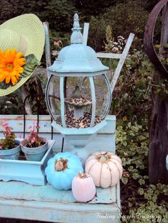 Discarded light fixture to feeder: From My Front Porch To Yours: Treasure Hunt Thursday #80 Most Viewed Links