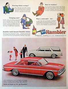 "Vintage Automobile Advertising: 1964 Rambler, ""Insist on More in '64 - Go Rambler!"", Look Magazine, December 3, 1963."