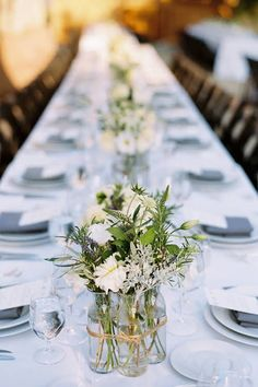 White and Purple Wedding Centerpieces