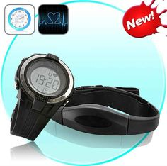 Heart Rate Monitor Watch - Chest Belt Included