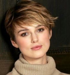 Keira Knightley short hair...this is the picture that got me itching to cut hair short....years ago! So glad that one of my best friends made me do it!