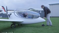 The aircraft, which is based on a commercially available singe seater, is also able to rec...