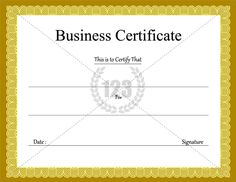The 9 best business certificate images on pinterest certificate business certificate templates for free download certificate templates wajeb Image collections