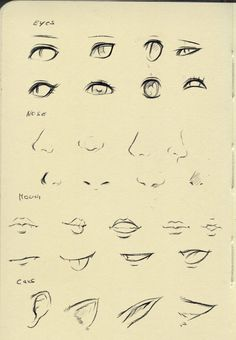 Reference (eyes,nose,mouth,ear) by ryky on @DeviantArt