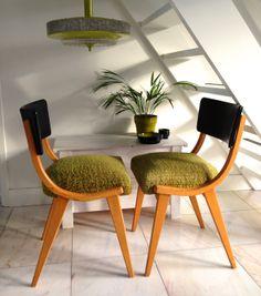 Vintage eetkamerstoelen Vintage stoelen jaren 50 Vintage dining chairs Midcentury dining chairs