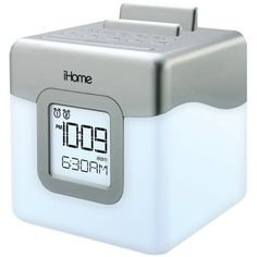 Color-Changing LED Dual Alarm Clock Radio Speaker System with USB Charging