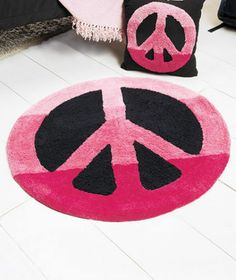 Peace Sign Hippy Blue Green Purple Pink Bedroom Accent Rug Teen Tween Decor New | eBay