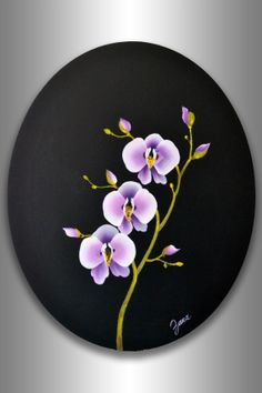 Original Abstract Red Tree Painting Round Canvas Home Office Wall Art Decor Impasto Painting Gift Still Life Abstract Orchid Branch Painting White Pink Lavender Purple Garden Flowers Black Background Art Thoughtful Gift For Every Occasion By Zarasshop Black Background Painting, Flowers Black Background, Red Flowers, Lavender Flowers, Orchids Painting, Round Canvas, Office Christmas Decorations, Purple Trees, Abstract Landscape Painting