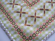 Vicki's Fabric Creations: Vintage Chicken Scratch Tablecloth