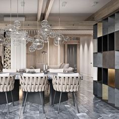 modern dining-room decor ideas to wow your attendees - Homes Tre Room Tiles Design, Dining Room Design, Dinner Room, Dining Room Lighting, Table Lighting, Lighting Ideas, Coffee Table Design, Coffee Tables, Dining Chairs