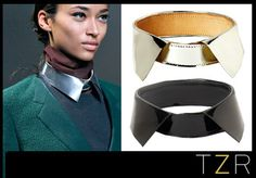 Obsessed beyond measure with this trend! 3.1 Phillip Lim Metallic Pointed Collar | The Zoe Report