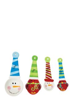 Sweater Snowman Measuring Spoons - Set of 4