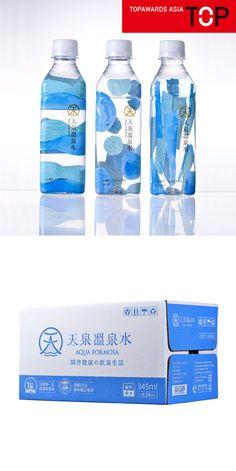 Water Packaging, Juice Packaging, Beverage Packaging, Bottle Packaging, Product Packaging, Food Packaging Design, Packaging Design Inspiration, Japan Package, Pet Logo