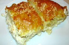 Simple cheese pie with yoghurt Greek Pastries, Eat Greek, Savory Muffins, Greek Cooking, Greek Recipes, Tasty Dishes, No Cook Meals, Food To Make, The Best