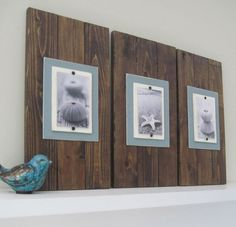 would look cute in dads den! rustic, of course i'd change the pics that are on them!