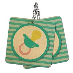Baby Pacifier Wood MDF 4' x 4' Mini Signs Gift Tags -- See this great product.