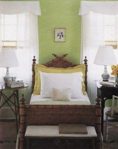 Faux bamboo bed Martha Stewart