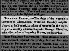 Captain George Fletcher, died.