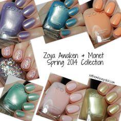 Zoya Awaken and Monet Swatches