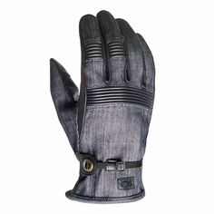 The Launch gloves from Roland Sands Design are a vintage work style glove with modern materials. The denim is woven with Dyneema, the strongest and most durable fibre in the world making this fabric 100 times stronger than normal denim.