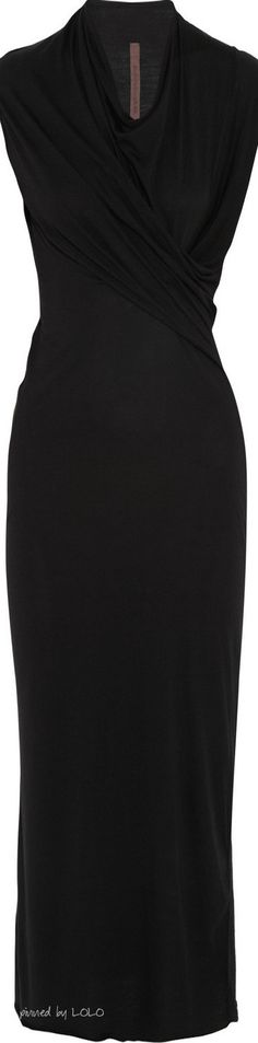 Rick Owens LILIES wrap-effect stretch-jersey dress