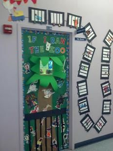 """How fabulous are these door displays inspired by Dr. Seuss' If I Ran The Zoo?! With Dr. Seuss' birthday/Read Across America coming up, if you're looking to add some """"WOW!"""" to your hallway decor,..."""