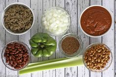 These are the ingredients that go into Wendy's Chili. You can recreate this famous Wendy's Chili at home with this copycat recipe.