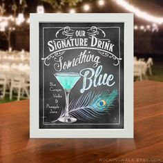 Chalkboard Style Signature Drink Signs Wedding by RockinChalk