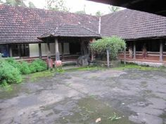 a courtyard of an Illam in Ottapalam town, Kerala, India...
