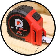 25' Foot QUICKDRAW PRO Self Marking Tape Measure - 1st Measuring Tape with a Built in Pencil - Contractor Grade Steel Tape - 25 Foot Power Locking Tape Ruler: Amazon.com: Industrial & Scientific