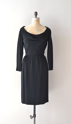 Ceil Chapman 1960s cocktail dress in rayon.