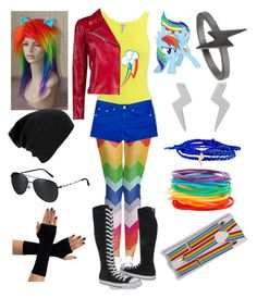 """""""Rainbow Dash"""" by mylittlepony-outfits ❤ liked on Polyvore"""