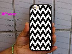 iPhone Case-black,white Chevron Monogram- iPhone 4/4s Case,iPhone ...