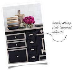 {trendspotting: steel-trimmed cabinets} | Home Design Style