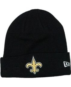 New Era New Orleans Saints Basic Cuff Knit Hat - Black Adjustable