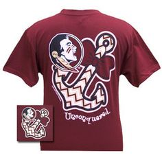 New FSU Florida State Seminoles Chevron Anchor Bow Girlie Bright T Shi | SimplyCuteTees