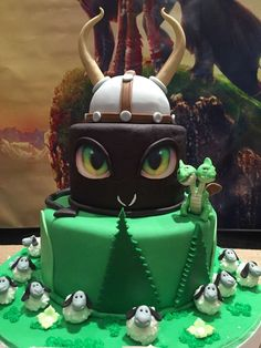 Wow! What a cake at a How to Train Your Dragon birthday party! See more party planning ideas at CatchMyParty.com!
