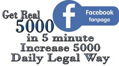 Get Facebook FanPage Likes 2017 - 5000 in 5 minutes Legally