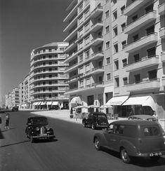 Fotografias: Avenida de Roma, Lisboa, 195... Claudino Madeira, in archivo photographico da C.M.L.