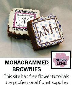 Unique Wedding Favor Ideas - Monogrammed Brownies