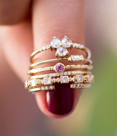 Love the way these stackable rings have been shot. *ad