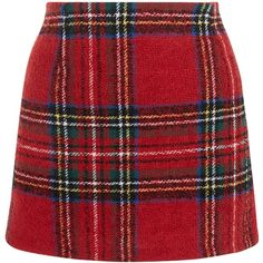 New Look Petite Red Check Skirt (€22) ❤ liked on Polyvore featuring skirts, red pattern, red checkered skirt, tartan plaid skirt, plaid skirt, red skirt and print skirt